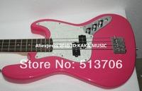 Bass Guitar Newest Pink 4 Strings Jazz Bass Wholesale Guitars Free Shipping