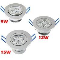 6pcs/lot 9W 12W 15W Luminarc Plafond Recessed LED Ceiling downlight Spot luminaria lamparas Cabinet Bulb illumination lumiere