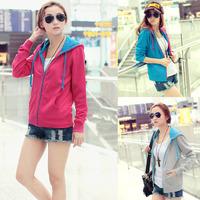 2014 spring new fashion loose cardigan jacket Harajuku girls casual wear long-sleeved sweater female women fresh free shipping