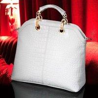 2014 New arrival famous brand good quality composite cow leather CROCO modern design women handbag/Shoulder Bag H410A