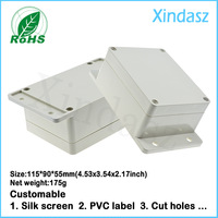 Wall mounting waterproof plastic box electronics junction box enclosure115x90x55mm 4.53x3.54x2.17inch