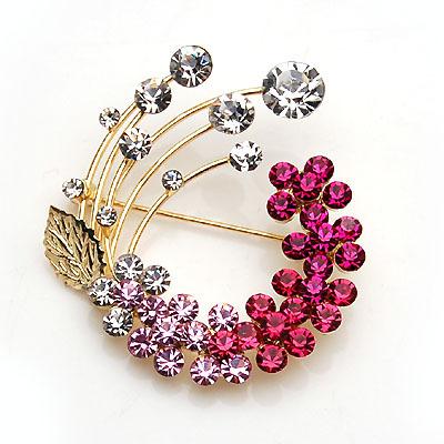 Fashion Jewelry Beautiful Brooch full Rhinestone Flower Brooch Brooches for Women(China (Mainland))