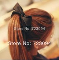 Min.order is $10 (mix order) Hot Women Headband Satin Ribbon Bow Hairband Rope Scrunchie Ponytail Holder CYK036