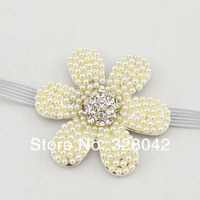 Min Order 1 pcs New Baby Glitter Elastic headband Tiara headband Crown headband baby flower Princess headband hair accessories