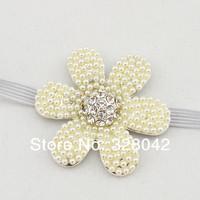 Min Order 1 pcs New Baby Glitter Elastic headband Tiara headband Crown headband baby flower Princess headband hair accessories