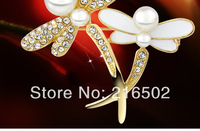 Free shipping lot of 6pcs top quality dragonfly brooch dragonfly corsagel