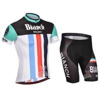 SWODART 2014 Bianch Men camisa maillot cycling Bib Short jersey ropa ciclismo maillot clothing set bicicletas Clothes