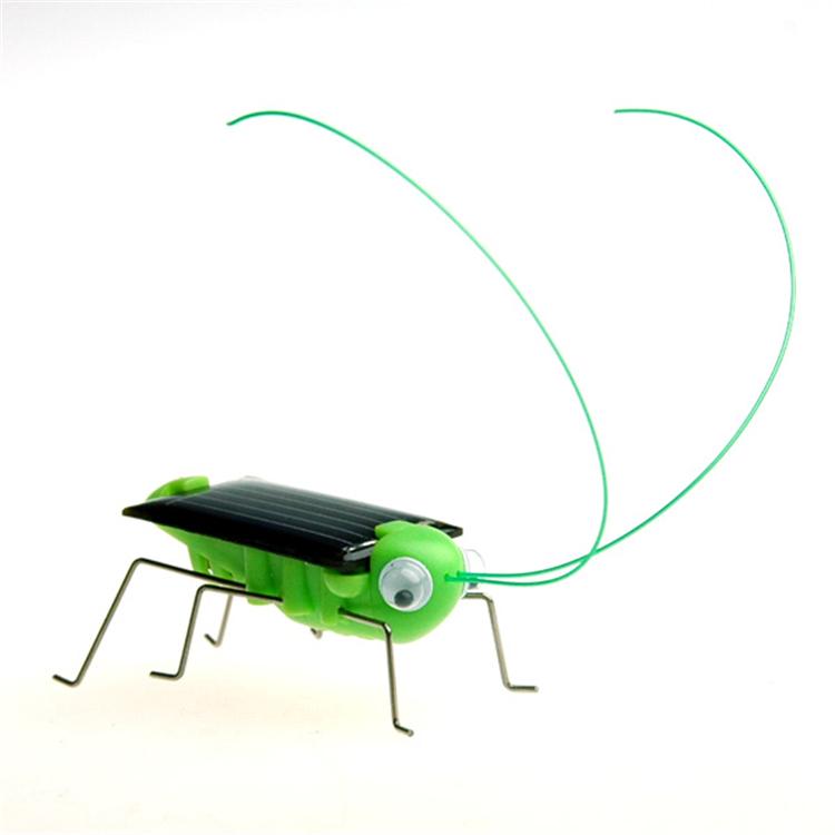 Wholesale Novelty Mini Solar Toys Energy Powered Child Kid Toy Grasshopper Bugs Toys Gifts 30pcs/lot(China (Mainland))