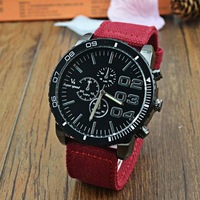 2014 New fashion V6 Super Speed Brazilian MAN wirstwatch Classic Simple Round Dial Textile strap mens Casual Wrist Watch
