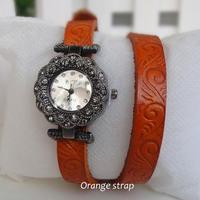 2014 New Fashion Beautiful Leather Strap Women Dress Wrist Watches Casual Design Quartz Wristwatch With rhinestones
