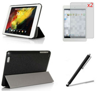 "New Business Ultra Thin Leather Smart Case Cover +2xScreen Protector+Stylus For HP Compaq 8 HP 8 1400 1401 7.85"" inch Tablet PC"