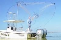 FREE SHIPPING AS-140 The American style of Throw Net Fishing Net.Mesh Size 2.0cm.Radius 3M,Catch Bait,Throw Nets,Bait Tanks