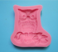 New Arrival Big Body Owl shape 3D silicone cake fondant mold, cake decoration tools, soap, candle moulds C227