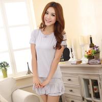 women short-sleeve o-neck pajama set