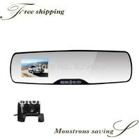 CAR DVR HD Car camera dvr recorder cameras dual lens rearview mirror radar gps