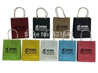 logo printing kraft paper bags
