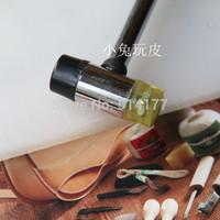 Diy handmade leather tools double slider dual rivet nsutite punch rubber hammer dianban plastic plate