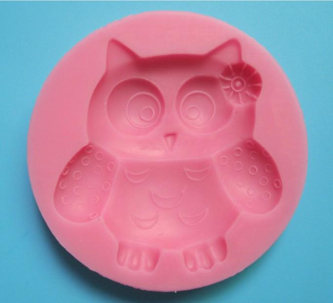 Carton hibou forme fondant 3d moules silicone moule bougie for Chambre de sucre gourmet artisanal sugars