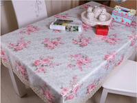130*180cm!!Fashion bucolic green tablecloth beautiful home European tablecloths free shipping