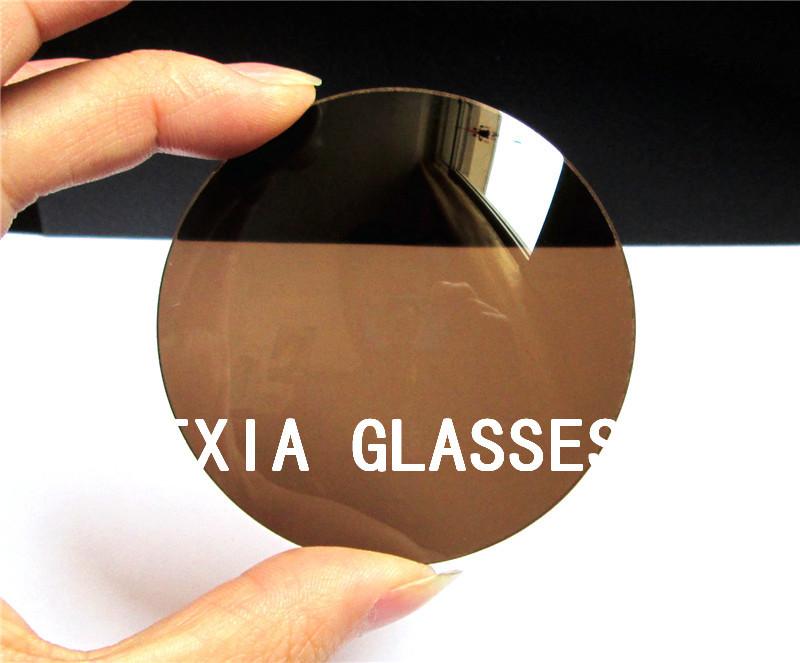 Plastic Lenses Brown Color Sun Glasses UV400 Lenses(China (Mainland))