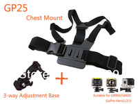 Camera Chest Mount Harness Holder with 3-way Adjustment Tripod Base accessories For G8800 G8900 Gopro Hero 3+ 3 2 1 SJ4000 SJCAM