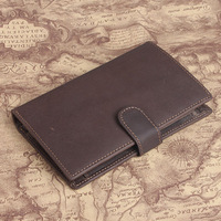 Cattle leather crazy horse leather handmade wallet male cowhide vintage medium-long wallet 4024