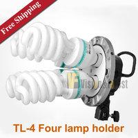 Godox tricolor bracket E27 Four lamp holder TL-4 quadruple Lampholder with Photography umbrella hole Photographic equipment