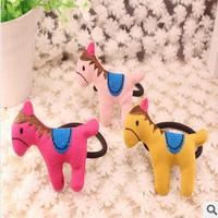 Nice Wholesale Retail DIY 8 Colores Ribbon Hair Band Elastic Horse Hair Ring Pony Hair Rope Cartoon Hair Accessory