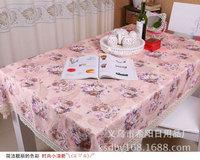 130*180cm!!Fashion bucolic pink tablecloth beautiful home European tablecloths free shipping