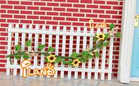 2014 New iland 1:12 miniature Doll House DIY mini furniture garden accessories White railing scene model