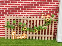 2014 New iland 1:12 miniature Doll House DIY mini furniture garden accessories wood railing scene model