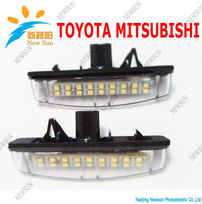 2014 Newest design led tail light for Toyota camry,Lexus,Mitsubishi 18SMD Led license plate light Error free(China (Mainland))
