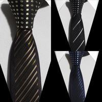 5.5 cm width mens leisure tie Contrat Knot necktie