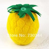 Velvet gift Box, little pineapple shape velvet gift box, fruit shape jewelry box,  with no inside liners, sold by lot(10pcs/lot)