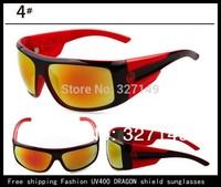 Multi color reflective DRAGON shield sunglasses,personalized windproof UV400 men sunglasses brand designer,10 pcs,no box