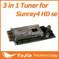 1pc sunray sr4 Triple Tuner T2 C S2 3 in 1 tuner for Sunray4 HD se SR4 800HD se satellite receiver free shipping post