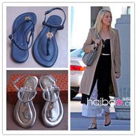 New 2014 Women flats sandals famous Design brand women genuine leather shoes 35-41