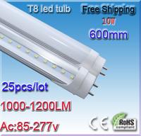 25pcs/lot 10W Led Rohre T8 60cm 600MM Led Replacement Lights for Fluorescent Tube Light AC110V 220V 230V 240V