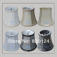 E14 Candle bulb' fabric lampshade pendant light Chandelier cover accessories crystal candle lamp cover classic cloth cover