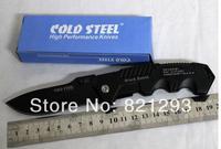 hot saleCOLD STEEL HY217 Hunting Pocket Knife Tactical Folding Knives Blade Sanding Black Aluminum Handle