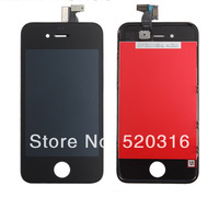 For iPhone 4 LCD Display+Touch Screen digitizer+Frame assembly,Free Shipping,best quality (Black)