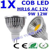 1pcs LED Spot light 9W 12W AC 12V MR16 COB led lamp Warm White /Pure White bulb Lamp Spotlight Free Shipping
