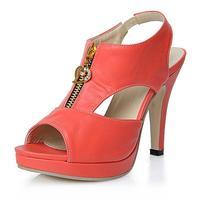 Fashion rhinestone platform high heels open toe sandals small yards women's shoes plus size shoes 34 - 43
