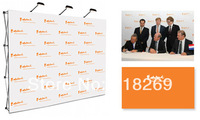 Custom Print 3X4 (7.5X10ft) fabirc POP up Backdrop with 2 lamps, free shipping to Panama