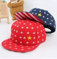 New Star pattern children baseball cap, boy girls snapback hip hop hats, kids sun casual caps, 2014  baby hats,unsex