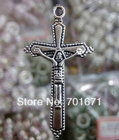 DIY Tibetan Silver beads 100pcs/lot cross Shape crucifix Charms  Alloy Pendant Fit Jewelry Making Free Shipping N4228