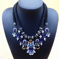 New 2014 Gorgeous Crystal Necklaces Brunet Department Statement Necklaces women Collar chokers necklaces For Party Dress