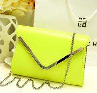 Hot-selling 2014 fashion women envelope small V-shaped one shoulder bag leather messenger bags vintage women handbag