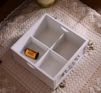 Zakka vintage retro finishing jewelry box wool handmade carved high quality cosmetic storage box