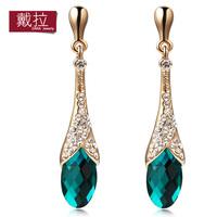 Earrings female fashion big earring crystal design long drop earring accessories